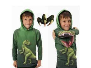 Jurassic World Boys Dinosaur T Shirt Spring and Autumn Children Hooded Long Sleeve Sweater Kids Top 0