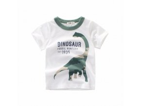 Boys Girls Cartoon T shirts Kids Dinosaur Print T Shirt For Boys Children Summer Short Sleeve 0