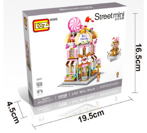 Stavebnice LOZ Mini - Prodejny Varianta: Cukrárna, s krabicí