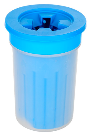 Kelímek na čistění psích tlapek Barva: modrá, Věk - velikost: S