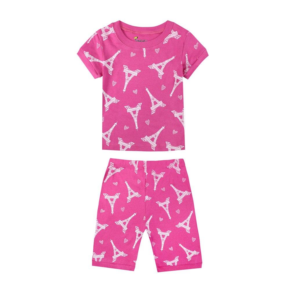 Dětské holčičí pyžamo mix motivů Věk: 2T, Motiv: růžové Eiffelova věž