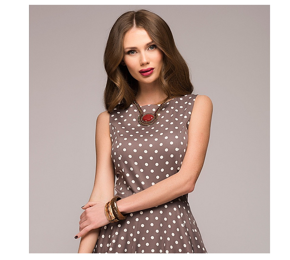 Dámské letní retro šaty s puntíky Možnosti velikostí: XL