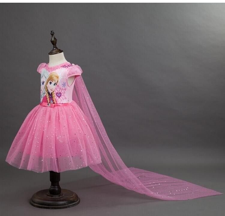 Slavnostní dívčí šaty s vlečkou LEDOVÉ KRÁLOVSTVÍ Věk: 4 roky, Barva: Růžová