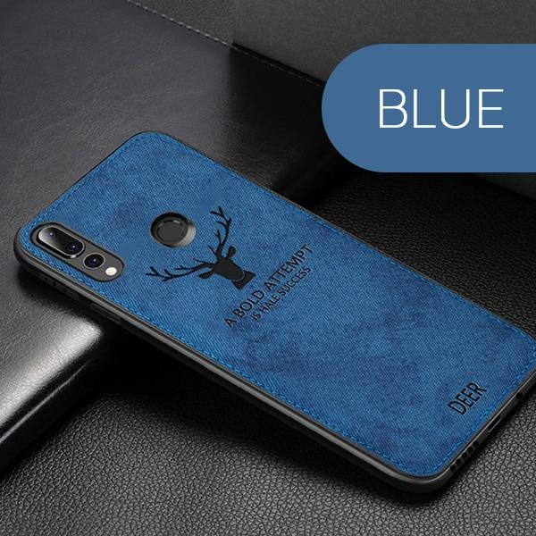 Huawei textilní kryt s potiskem Barva: modrá, Model telefonu: Honor play 4T Pro