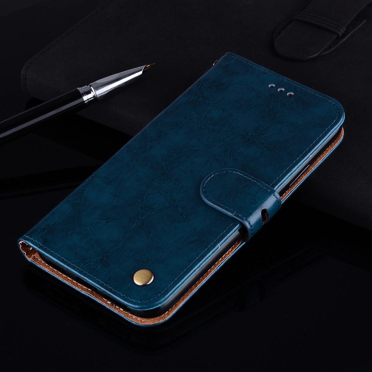 Xiaomi luxusní kožený flipový kryt Barva: modrá, Model: Mi A2 or Mi 6X