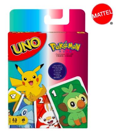Rodinná karetní hra Uno, speciální edice Motivy: Pokemon
