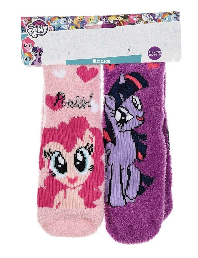 Dívčí teplé protiskluzové ponožky My Little Pony, duopack Velikost: 23-26