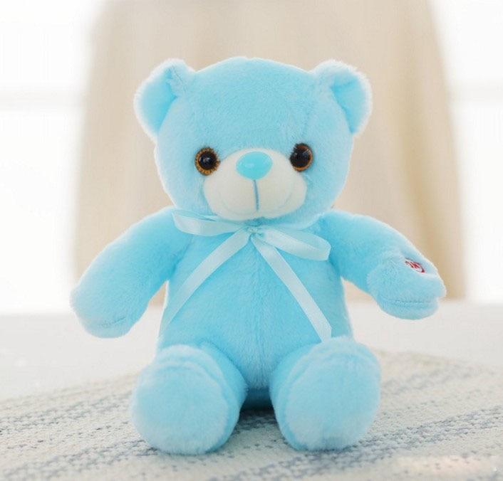 30/50/80 cm velký svítící plyšový medvěd Barva: Sv. modrá, Velikost: 30 cm