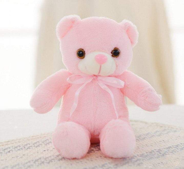 30/50/80 cm velký svítící plyšový medvěd Barva: Růžová, Míry: 30 cm