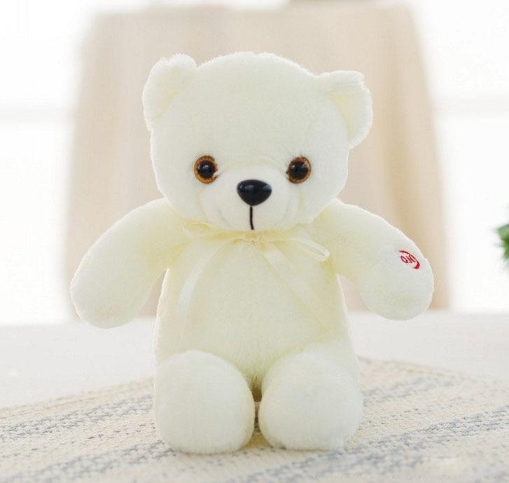 30/50/80 cm velký svítící plyšový medvěd Barva: Bílá, Velikost: 30 cm