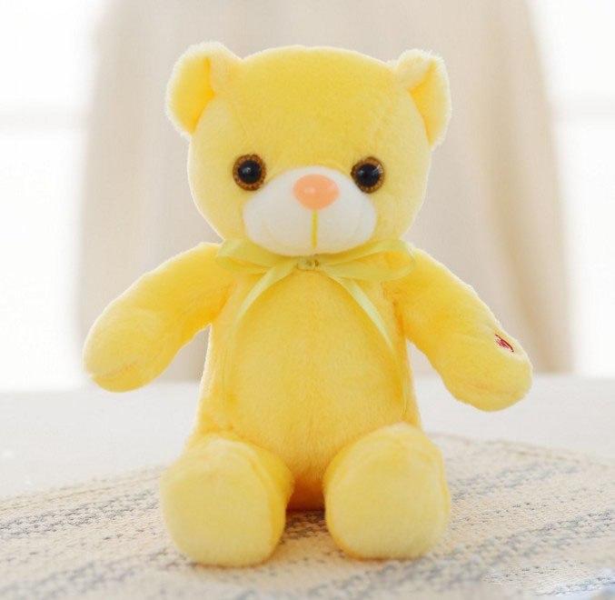 30/50/80 cm velký svítící plyšový medvěd Barva: Žlutá, Velikost: 30 cm
