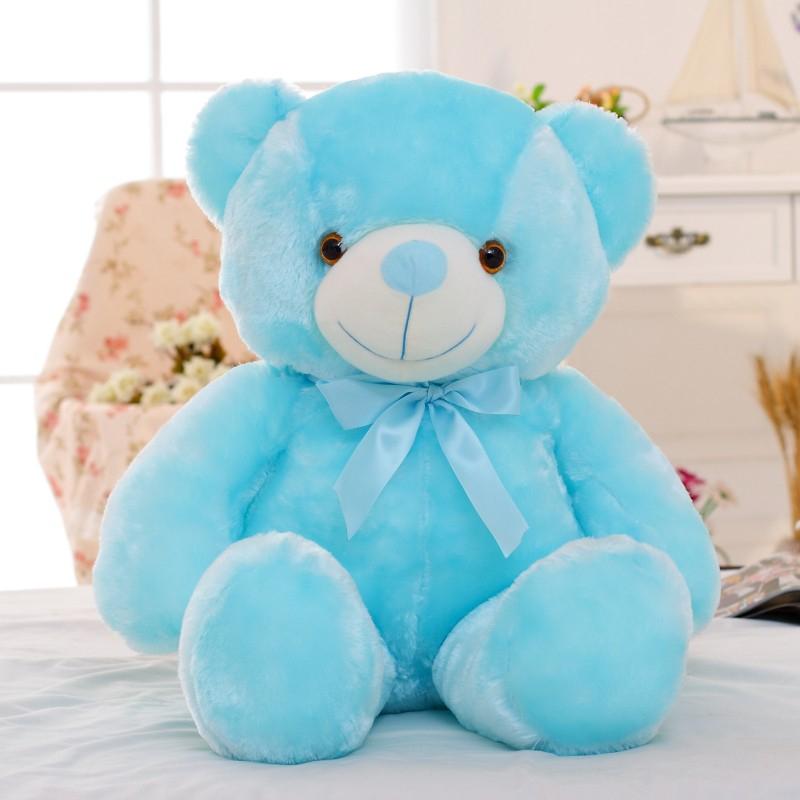 30/50/80 cm velký svítící plyšový medvěd Barva: Sv. modrá, Velikost: 50 cm
