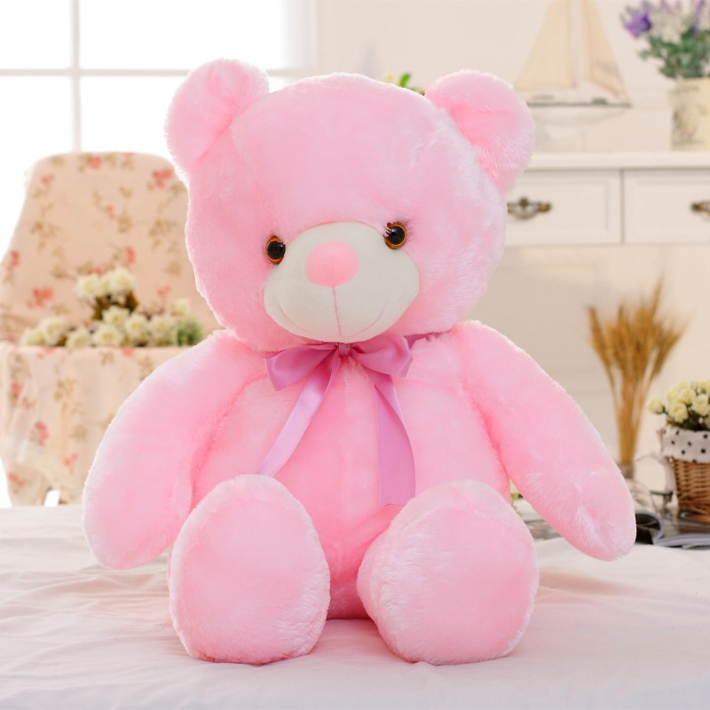 30/50/80 cm velký svítící plyšový medvěd Barva: Růžová, Velikost: 50 cm