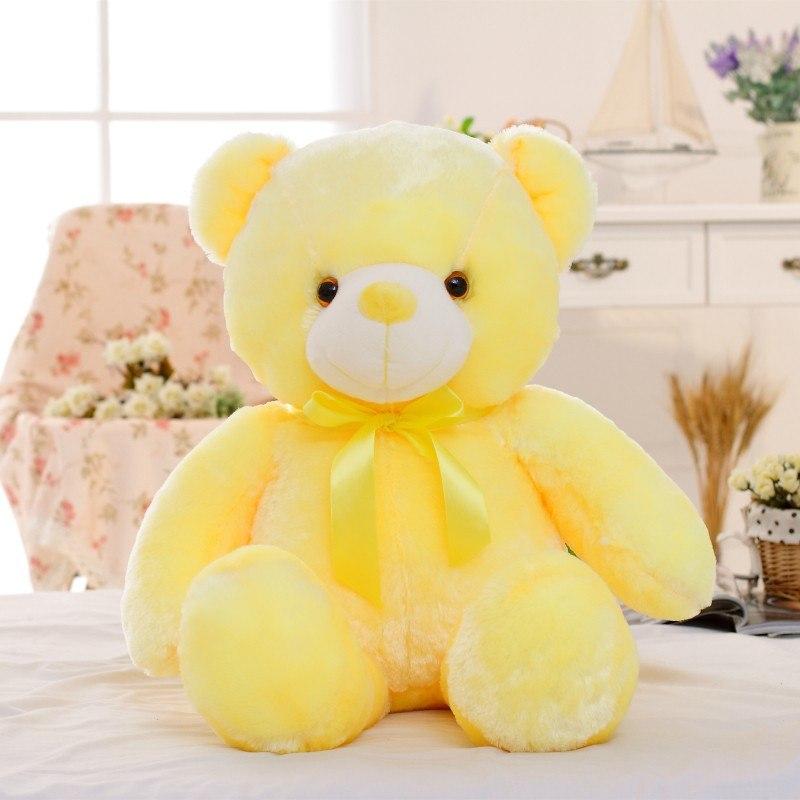 30/50/80 cm velký svítící plyšový medvěd Barva: Žlutá, Velikost: 50 cm