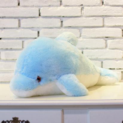33 cm velký svítící plyšový delfín Barvy: Modrá