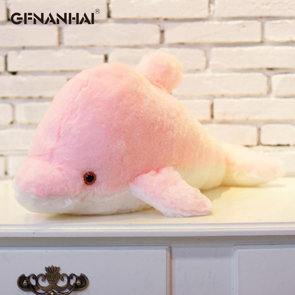 45 cm velký svítící plyšový delfín Barvy: Růžová