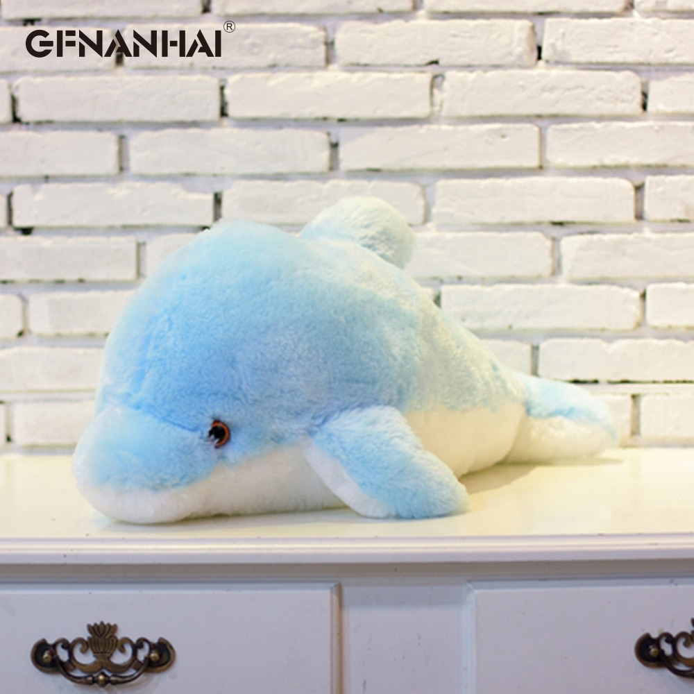 45 cm velký svítící plyšový delfín Barvy: Modrá