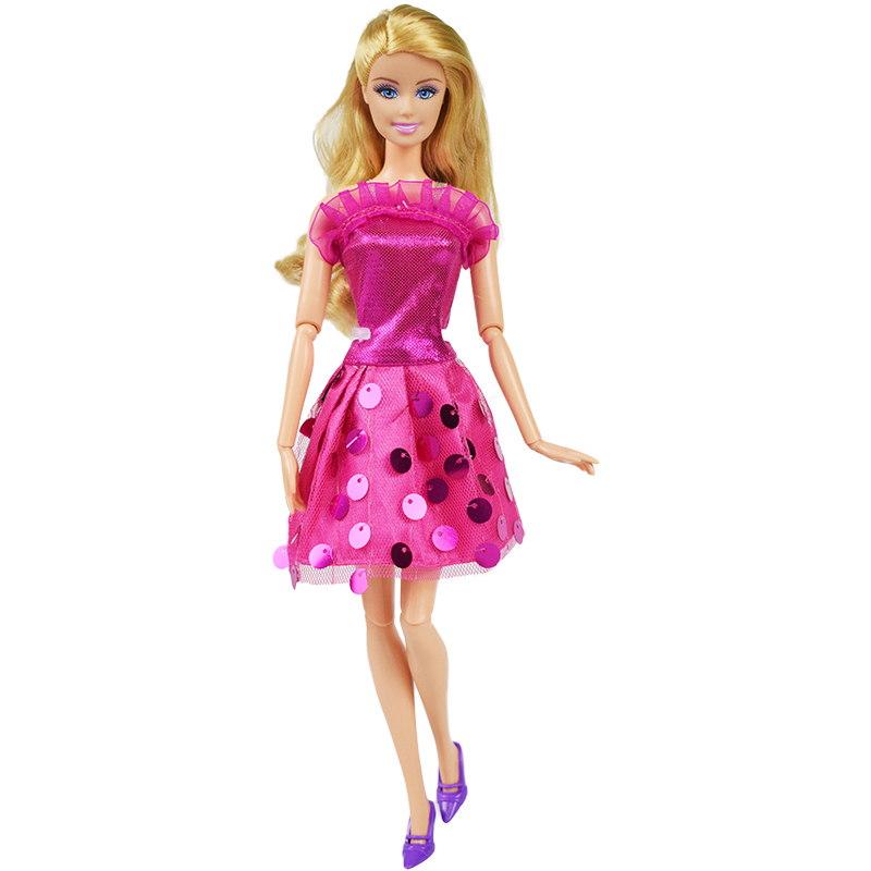9490ee48ffab Party oblečení pro Barbie Vzor  Růžové šaty