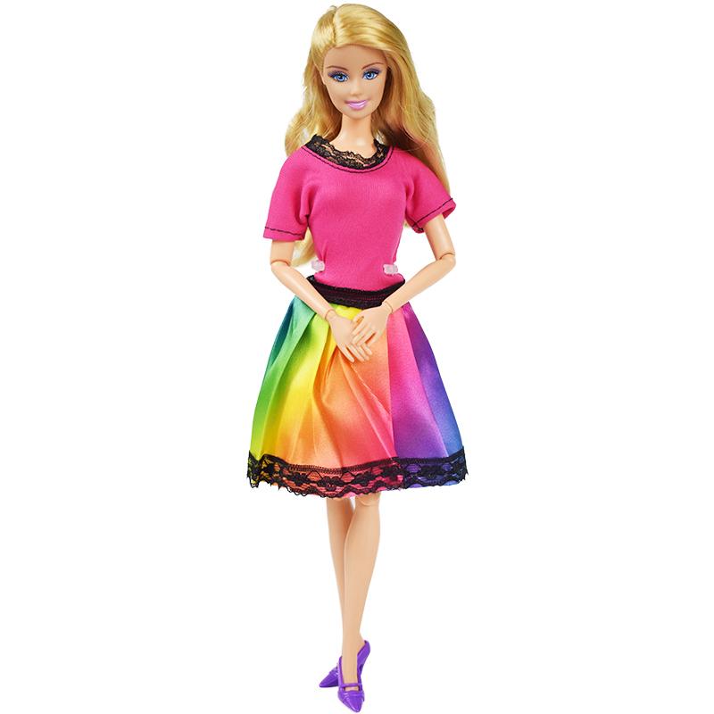 Party oblečení pro Barbie Vzor: Duhové šaty