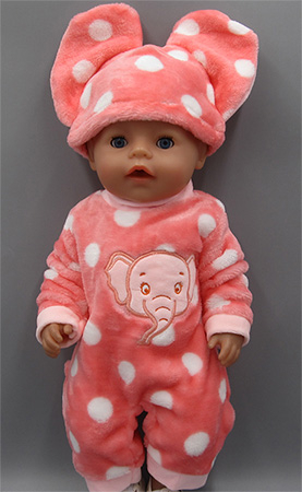 92c0896edc Roztomilé oblečení na Baby Born panenku Vzor  overal slon - růžový