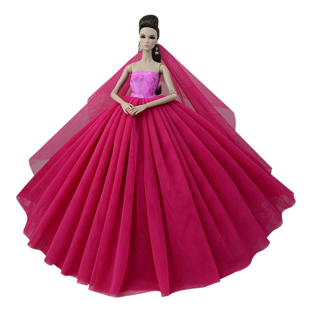 """Dlouhé svatební šaty se závojem """"různé barvy"""" Motiv: vínové"""