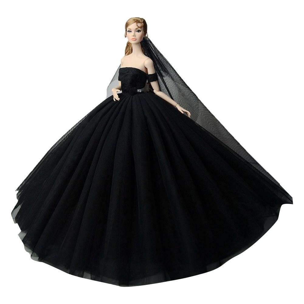 """Dlouhé svatební šaty se závojem """"různé barvy"""" Motiv: černé"""