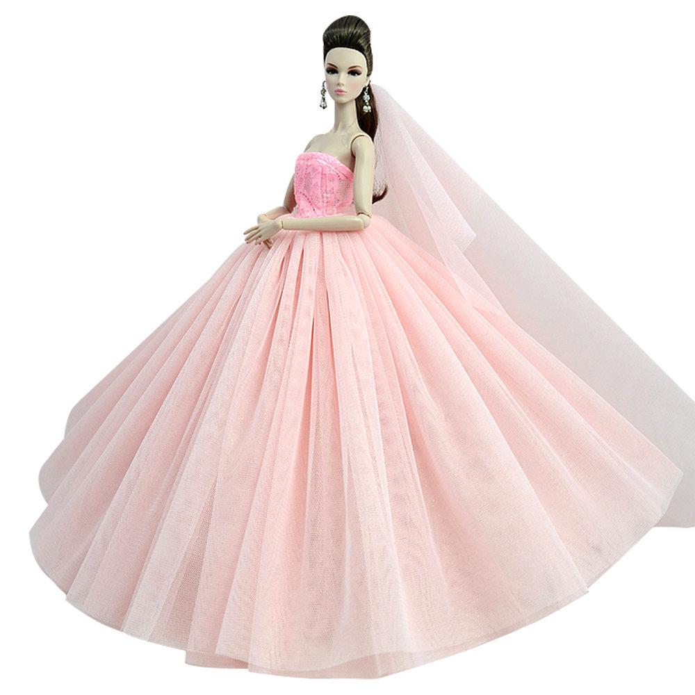 """Dlouhé svatební šaty se závojem """"různé barvy"""" Motiv: růžové 2"""