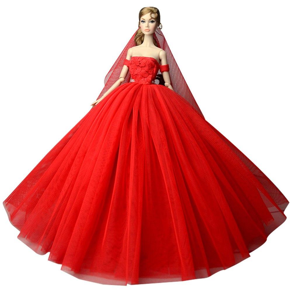 """Dlouhé svatební šaty se závojem """"různé barvy"""" Motiv: červené"""
