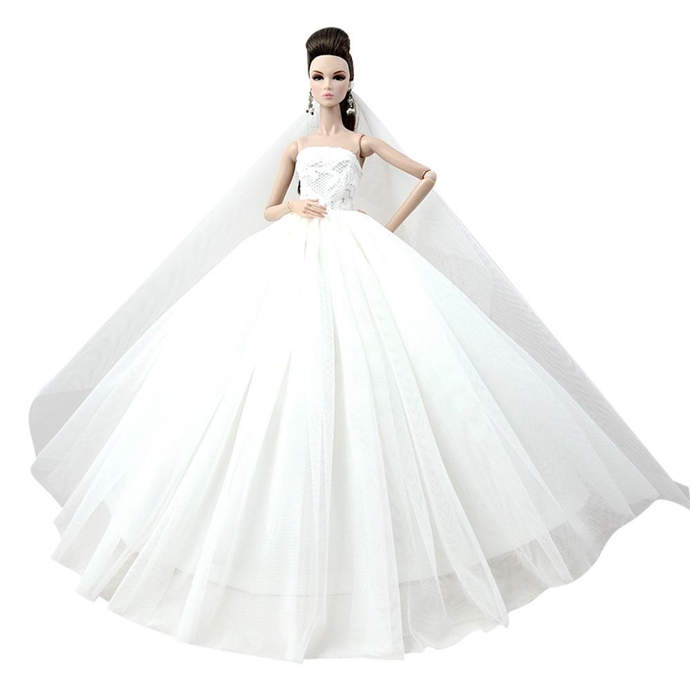 """Dlouhé svatební šaty se závojem """"různé barvy"""" Motiv: bílé"""