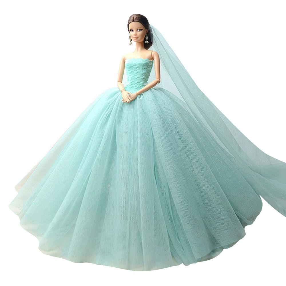 """Dlouhé svatební šaty se závojem """"různé barvy"""" Motiv: mint"""