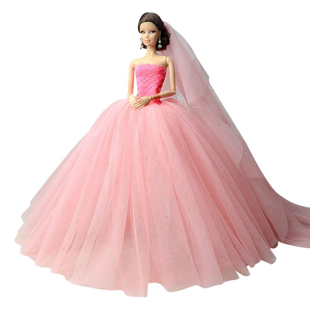 """Dlouhé svatební šaty se závojem """"různé barvy"""" Motiv: růžové s tmavším korzetem"""