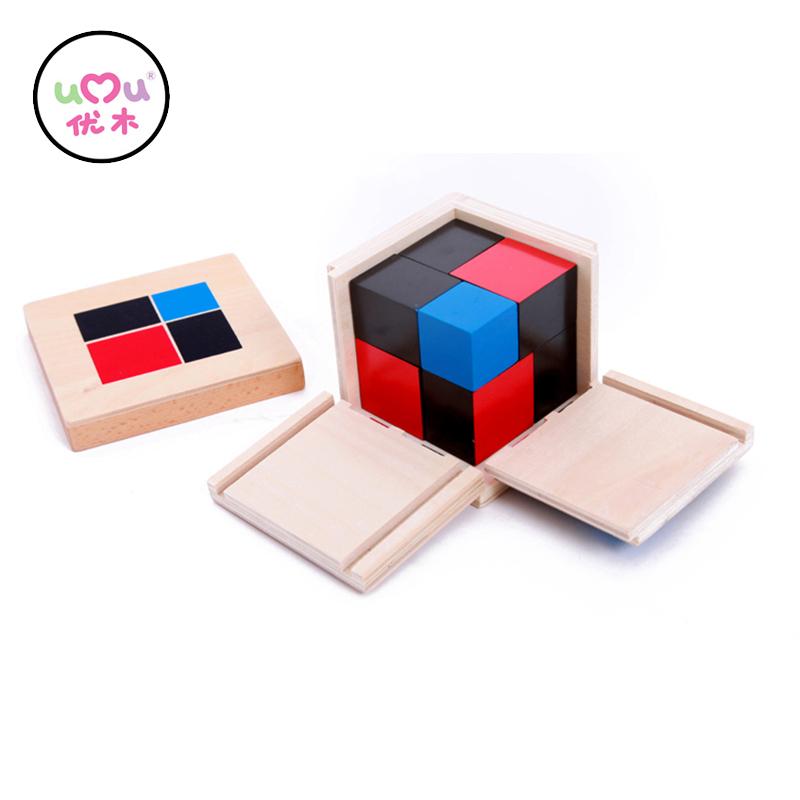 Montessori dřevěná kostka