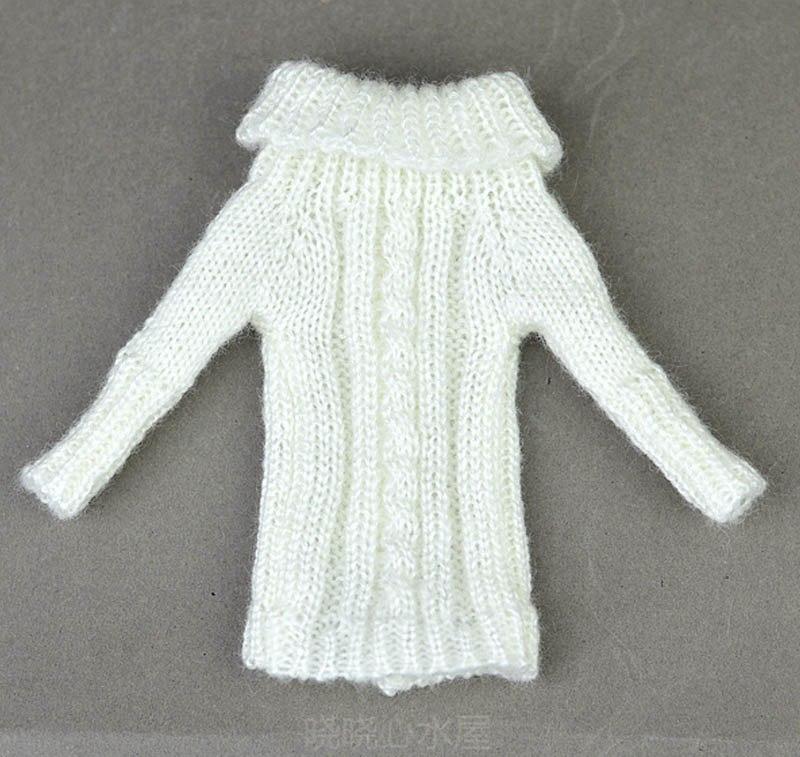 770c5c5da700 Pletené šaty svetříky pro panenku Barbie Motiv  bílý pletený svetr