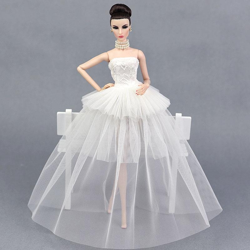 Dlouhé noblesní svatební/večerní šaty Motiv: bílé krajkové