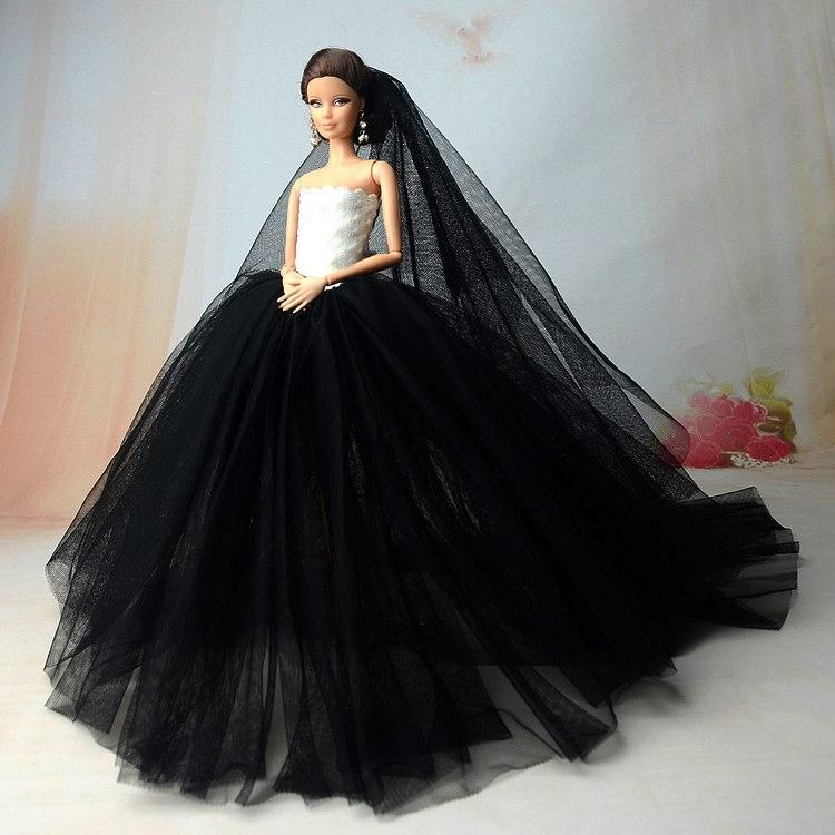 Dlouhé noblesní svatební/večerní šaty Motiv: černé šaty s bílým korzetem