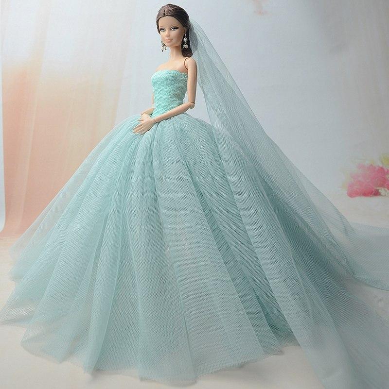 Dlouhé noblesní svatební/večerní šaty Motiv: zelenkavé