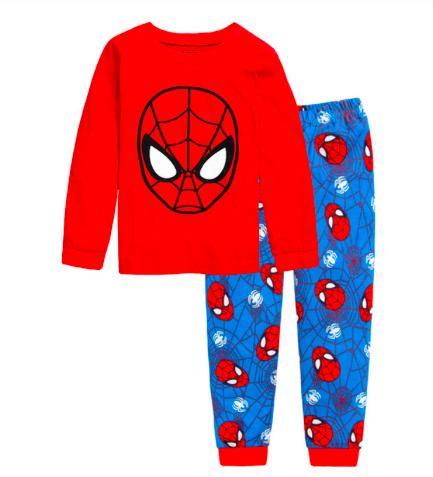 Pyžámka s pohádkovými/filmovými hrdiny Varianta: Spiderman maska, modrá, Věk: 2T