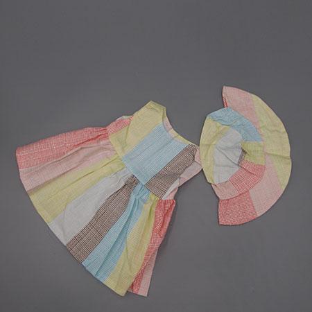 Oblečky pro American girl a Baby Born 43-45 cm Motiv: 1 duhové šaty s kloboučkem