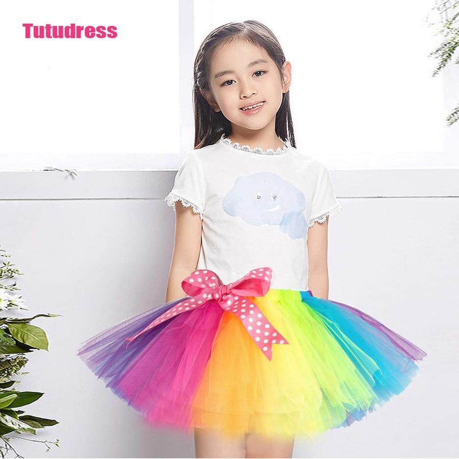 Duhová taneční TUTU sukýnka možnosti: XL