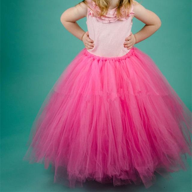 Dlouhá tylová TUTU sukně Věk: 2T, Motiv: 10 růžová