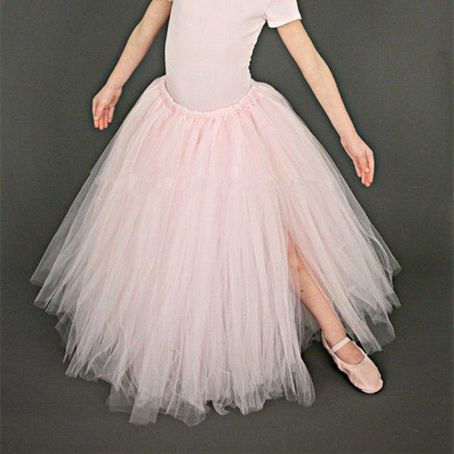 Dlouhá tylová TUTU sukně Věk: 2T, Motiv: 1 světle růžová
