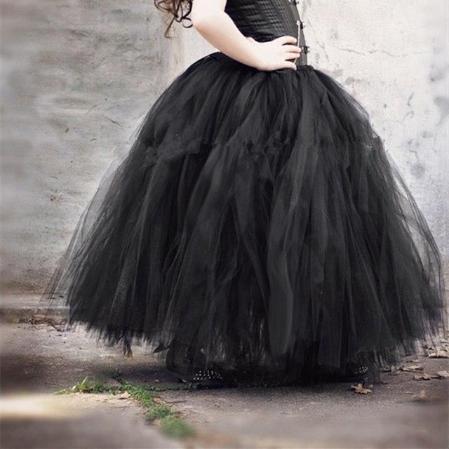 Dlouhá tylová TUTU sukně Věk: 2T, Motiv: černá