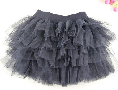 Volánková tylová TUTU sukně Věk: 3T, Motiv: černá