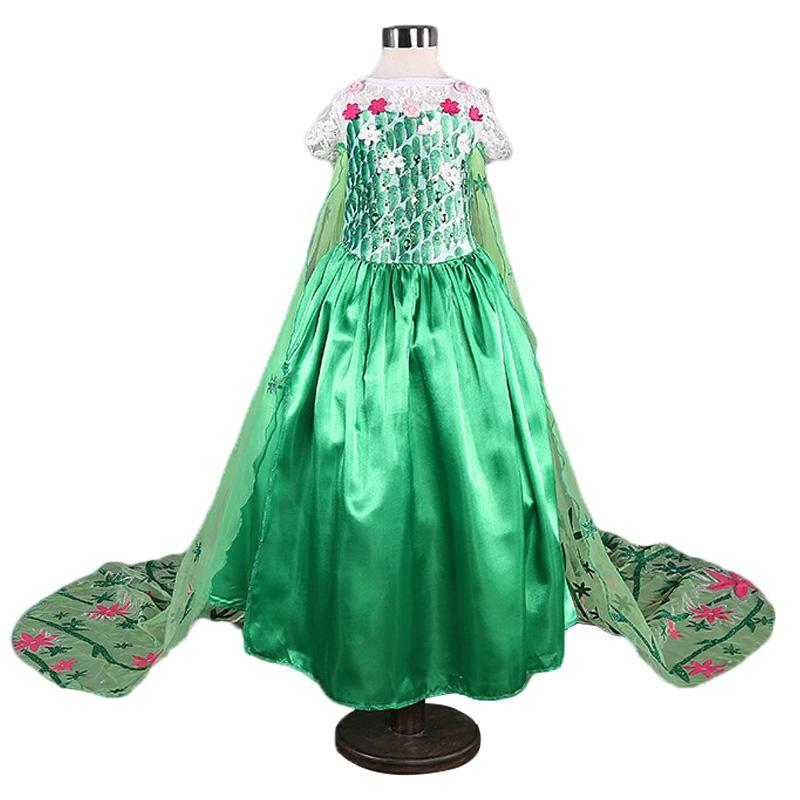 """Šaty z pohádky Frozen """"Ledové království"""" Věk: 4T, Motiv: 3 Anna zelené šaty"""