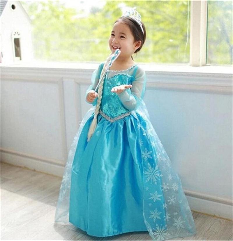 """Šaty z pohádky Frozen """"Ledové království"""" Věk: 10T, Motiv: 1 Elza balónová sukně"""