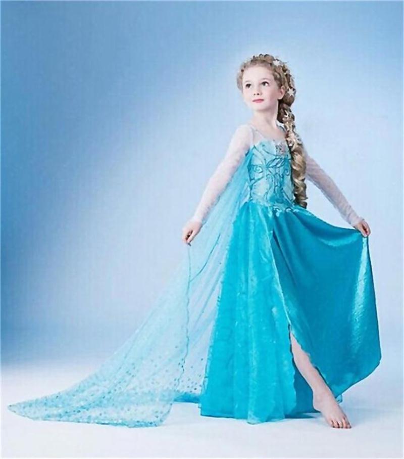 """Šaty z pohádky Frozen """"Ledové království"""" Věk: 10T, Motiv: 2 Elza víla"""