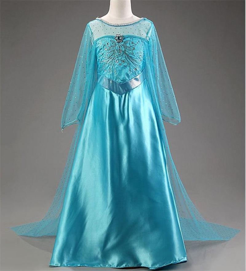 """Šaty z pohádky Frozen """"Ledové království"""" Věk: 10T, Motiv: 4 Elza s broží"""