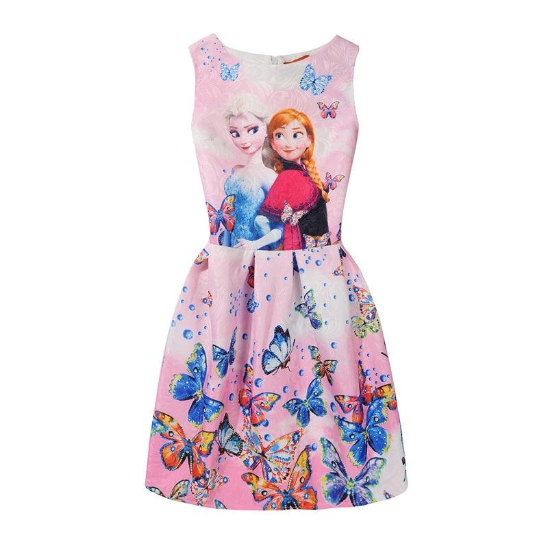 8b2792f88090 Letní šaty z pohádky Frozen s