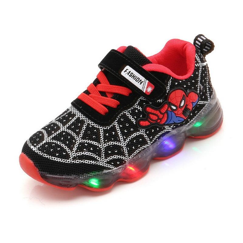 Dětské Spiderman svítící boty Barva: Černá, Velikost EUR: 21