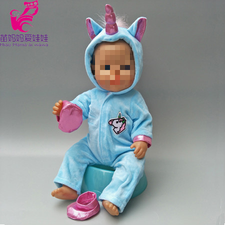 7710f0c06f Zvířecí overaly pro American girl a Baby Born 43-45 cm Druhy  jednorožec  modrý